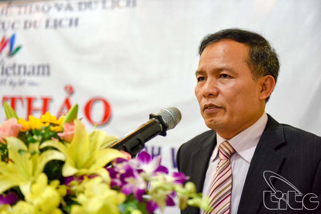 Phó Tổng cục trưởng TCDL Ngô Hoài Chung phát biểu tại Hội thảo: Định hướng phát triển con đường du lịch về nguồn
