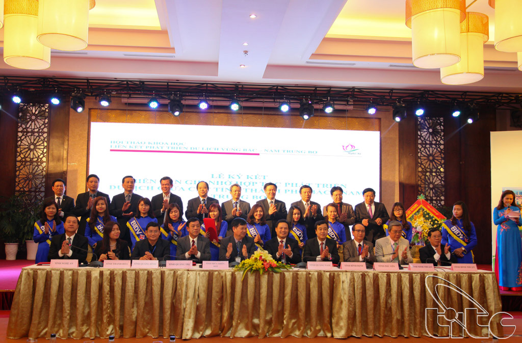 Lễ ký kết biên bản thỏa thuận hợp tác phát triển du lịch giữa 14 tỉnh, thành phố vùng Bắc – Nam Trung Bộ