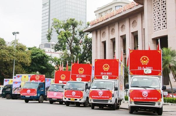 Hà Nội: Tuyên truyền lưu động về bầu cử và văn hóa ứng xử